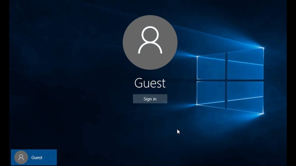 Enable guest account in Windows 10 via Group Policy